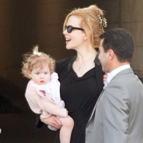 Nicole Kidman and Keith Urban With Sunday and Faith Pictures