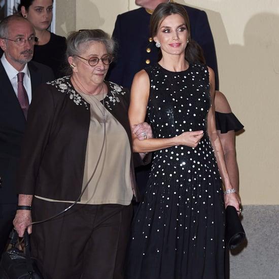 Queen Letizia Carolina Herrera Sequin Dress