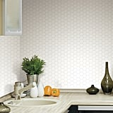 Hexagon PVC Peel and Stick Mosaic Tile in White