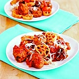 Wagon Wheels With Meatballs