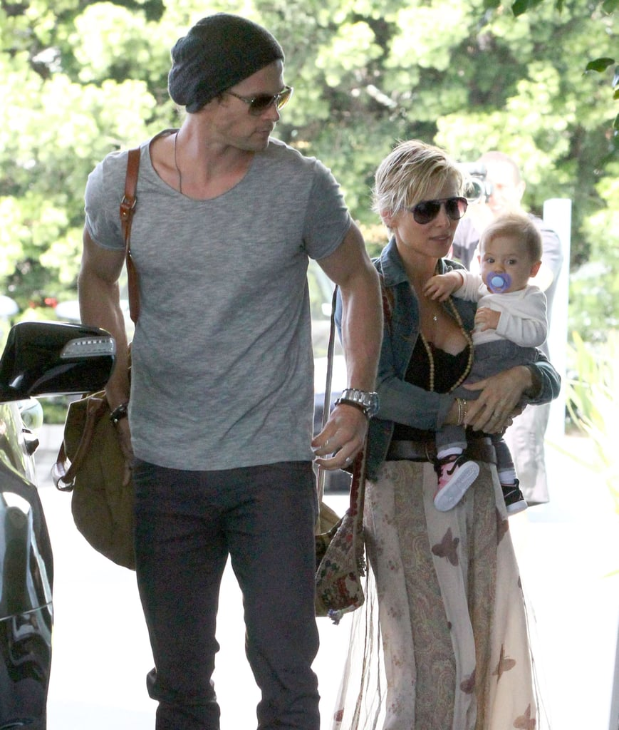 Chris Hemsworth spent time with his wife, Elsa Pataky, and daughter India Hemsworth in Santa Monica.