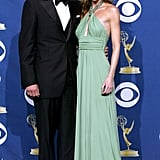 Patrick Dempsey and Ellen Pompeo at the 2005 Emmy Awards