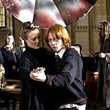 Here's Professor McGonagall giving Ron dance lessons in Harry Potter and the Goblet of Fire.