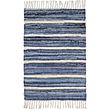 Denim Rag Stripe Woven Cotton Rug