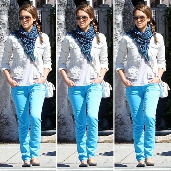 Jessica Alba Blue Jeans | POPSUGAR Fashion