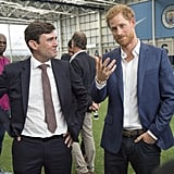 Prince Harry in Manchester, England, September 2017