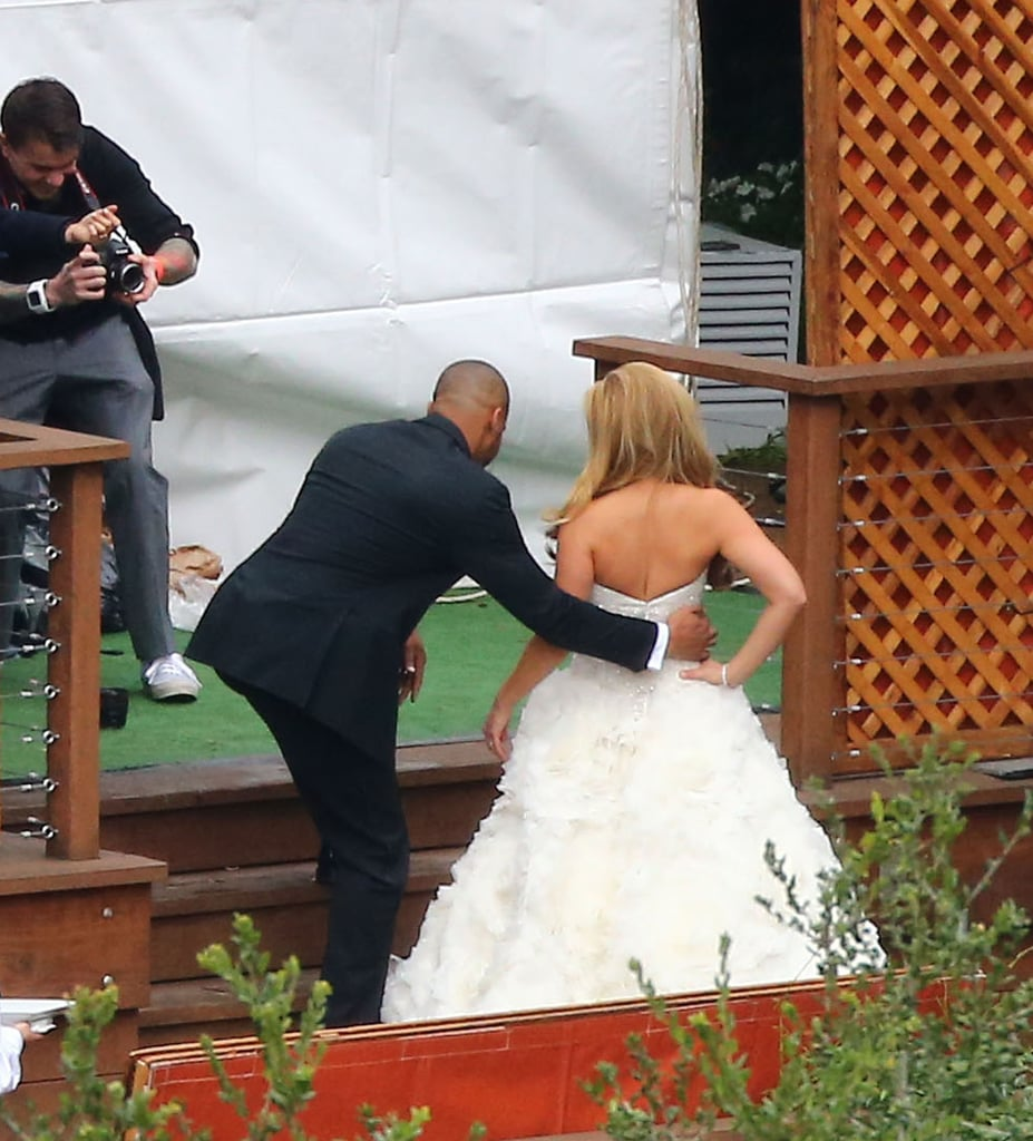 CaCee Cobb and Donald Faison posed for pictures together at the wedding.