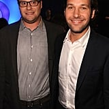 Seth Rogen and Paul Rudd hung out at the red carpet.
