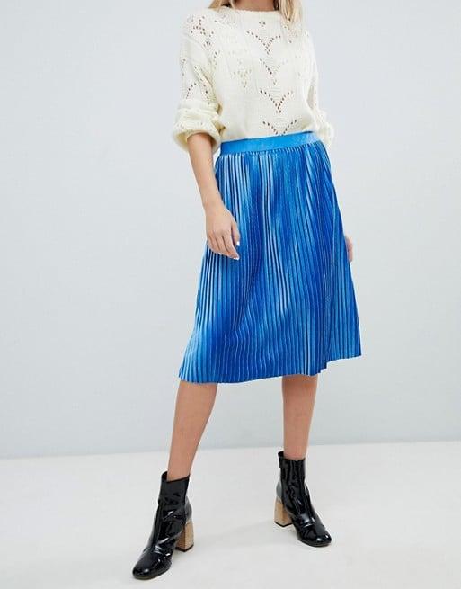 b1c62db115 Shop Similar: Soaked in Luxury Velvet Pleated Skirt   Karlie Kloss ...