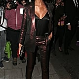 Jourdan Dunn Wore a Metallic Pantsuit to the Vogue X Victoria Beckham Party During LFW