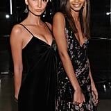 Chanel Iman and Lily Aldridge attended an event for Ralph Lauren in NYC.