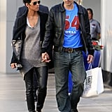 Halle Berry and Olivier Martinez shopped together.