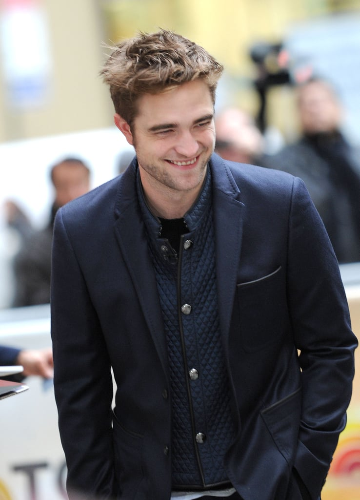 Robert Pattinson smiled while out in NYC.