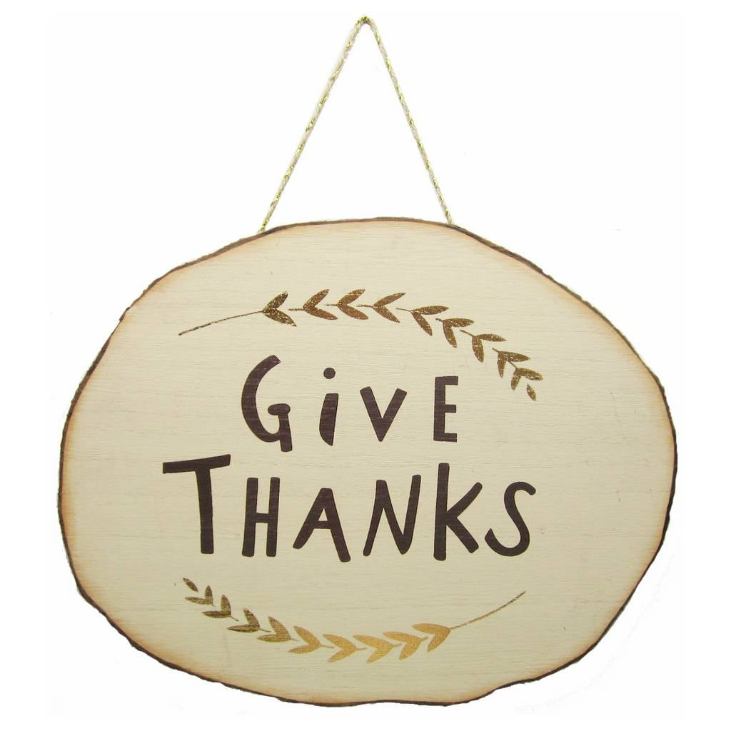 "Harvest ""Give Thanks"" Wooden Wall Hanging ($4)"