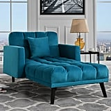 Modern Velvet Recliner Sleeper Chaise Lounge
