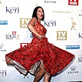 Julia Morris Got a Little Carried Away in Her Twirl