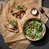 Socca Pizza With Fennel-Grape-Arugula Salad Recipe