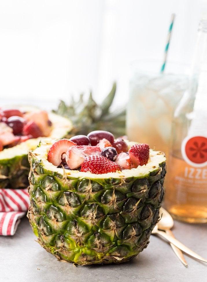 Fruit Salad in Pineapple Bowl