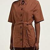 Albus Lumen Safari Belted Cotton Shirt