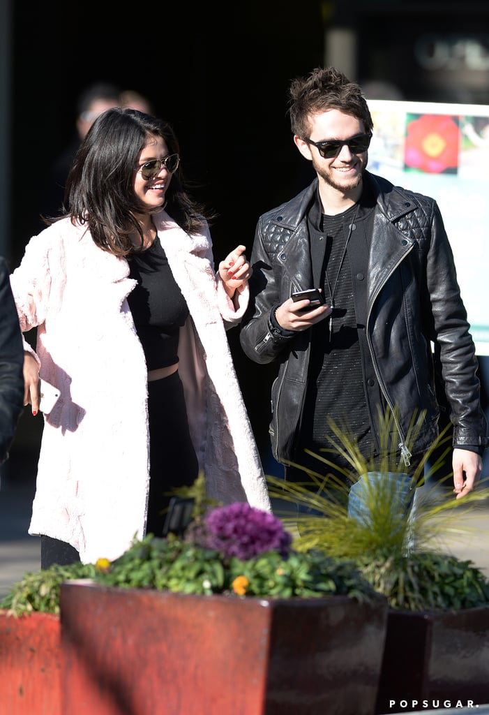 In January, Selena lit up with a smile when Zedd flew to her side in Atlanta, where she was filming her movie The Revised Fundamentals of Caregiving.