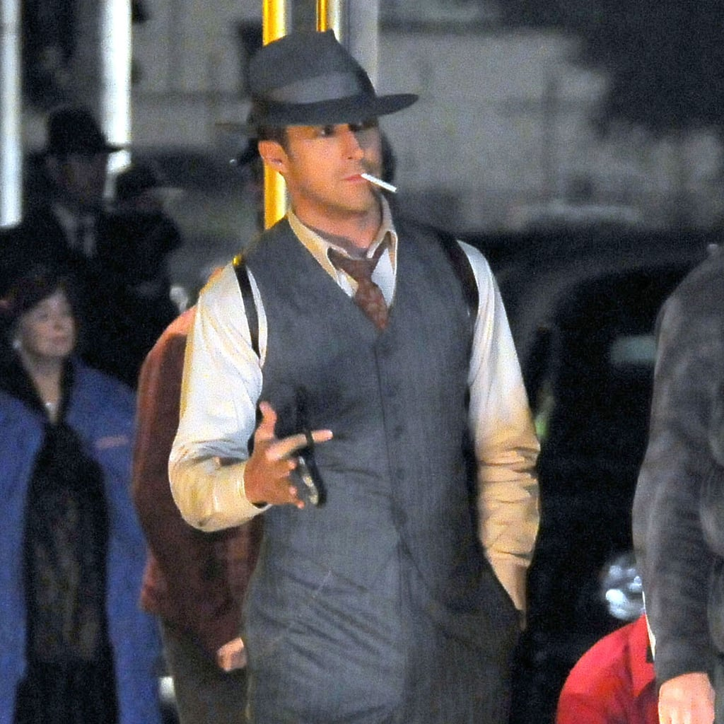 Ryan Gosling's suit fit his well-toned physique perfectly.