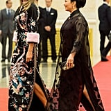 Melania in a Gucci Gown