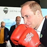 Prince William tried his hand at boxing in May while he was at a special launch event in London.
