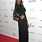 At The Daily Front Row's Media Awards, Jessica White made an entrance in black.