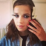 The beauty look from Rebecca Taylor included a combo of red polish and a smoky eye: perfect for a night out.