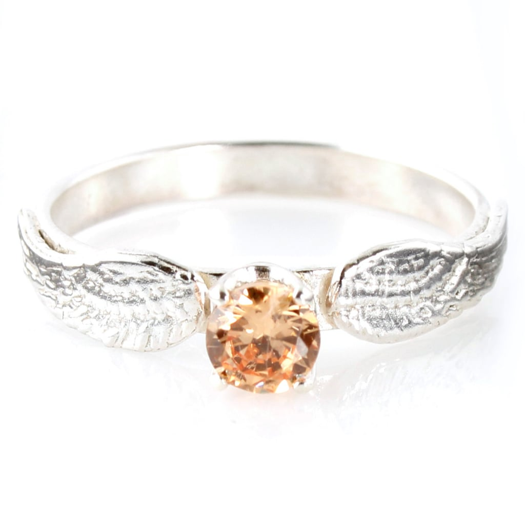 Sterling Silver Snitch Engagement Ring ($228)