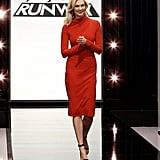 Project Runway Episode 1: Karlie's Red Carolina Herrera Dress