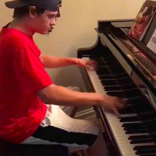 Pizza Delivery Man Plays the Piano at a Family's House