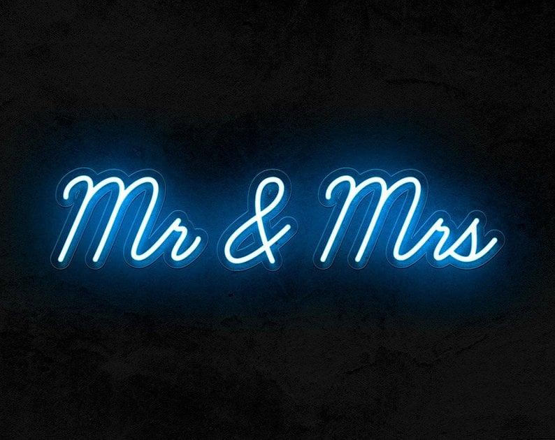 Mr & Mrs Neon LED Sign