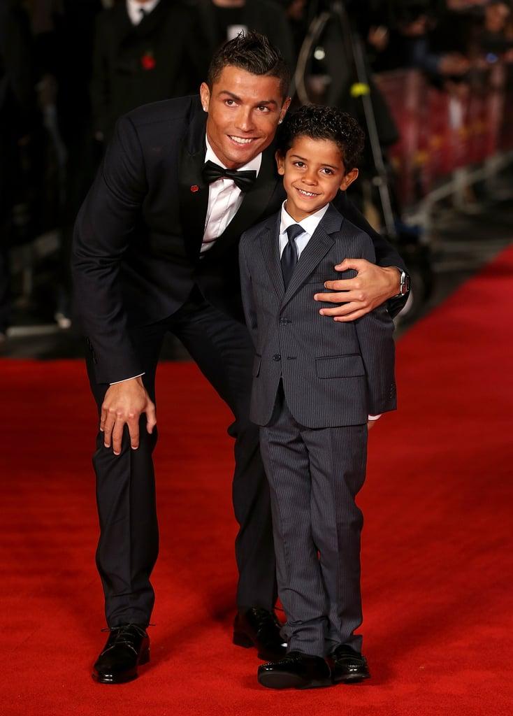 Cristiano Ronaldo and His Son at the Premiere of Ronaldo