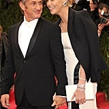 Charlize and Sean shared a laugh on the red carpet.