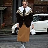 Winter Outfit Idea: A Fairisle Sweater and Midi Skirt