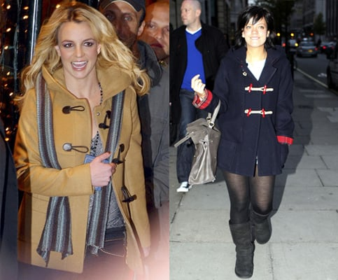 Pictures of Lily Allen and Britney Spears in a Duffle Coat