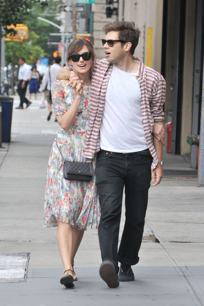 Keira Knightley and fiancé James Righton walked around NYC together in August.