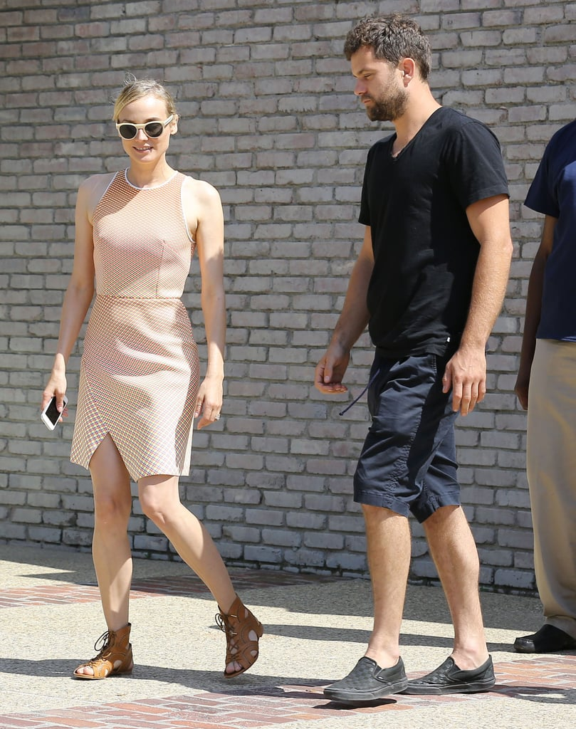 Diane Kruger and Joshua Jackson arrived together.