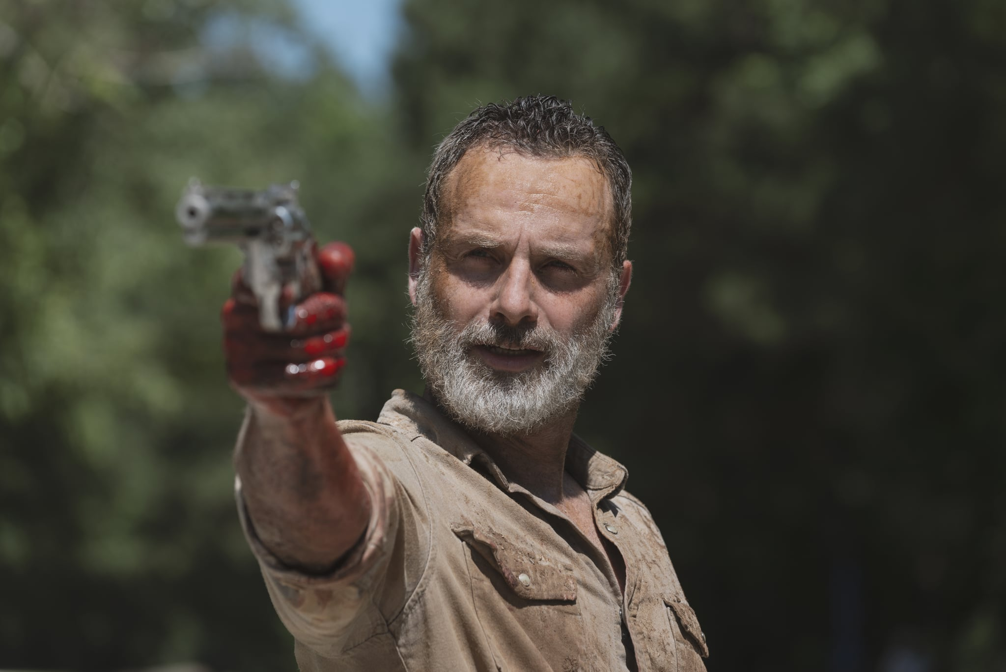 Andrew Lincoln as Rick Grimes - The Walking Dead _ Season 9, Episode 5 - Photo Credit: Gene Page/AMC