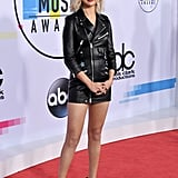 Selena Gomez Coach Dress at the American Music Awards 2017
