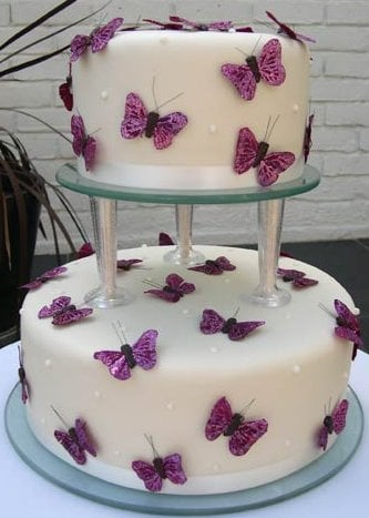 butterflies for wedding cakes butterfly wedding cakes 12274