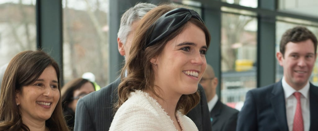 Princess Eugenie's Black Leather Headband March 2019