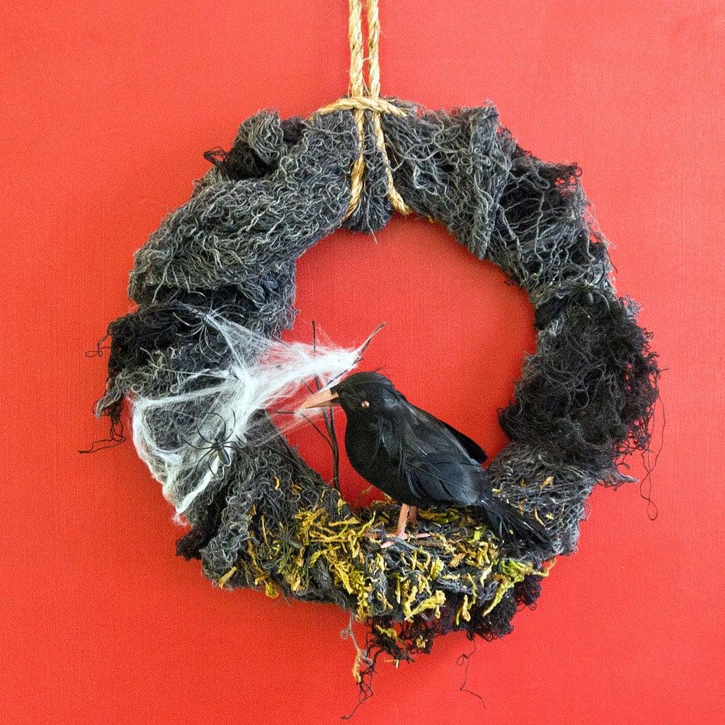 Halloween Raven Wreath