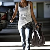 Halle Berry headed to her car.