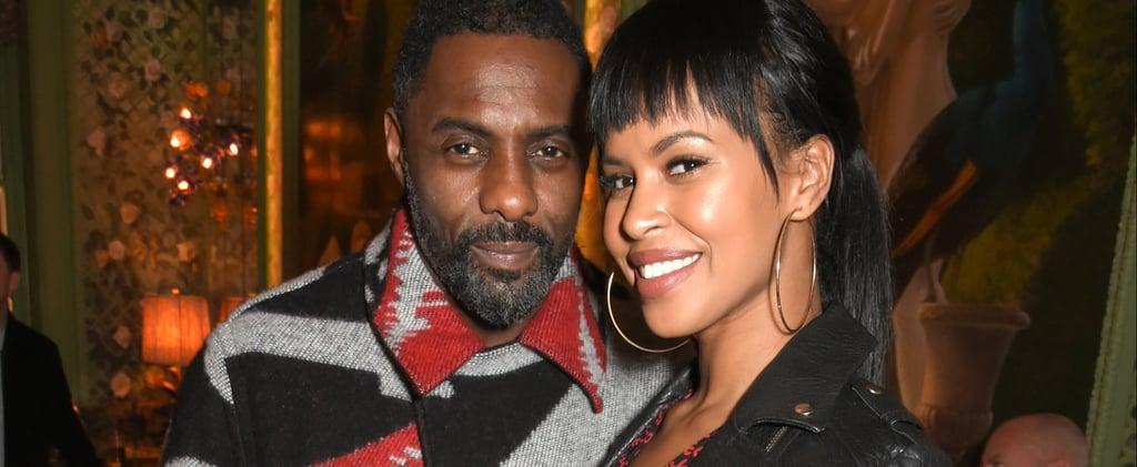 Idris Elba and Fiancee Sabrina Dhowre at Fashion Week 2018