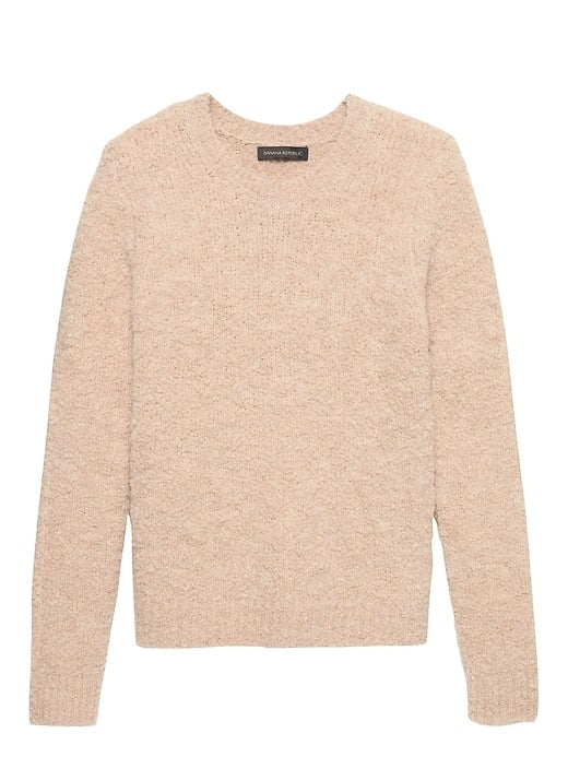 Bouclé Crew-Neck Sweater