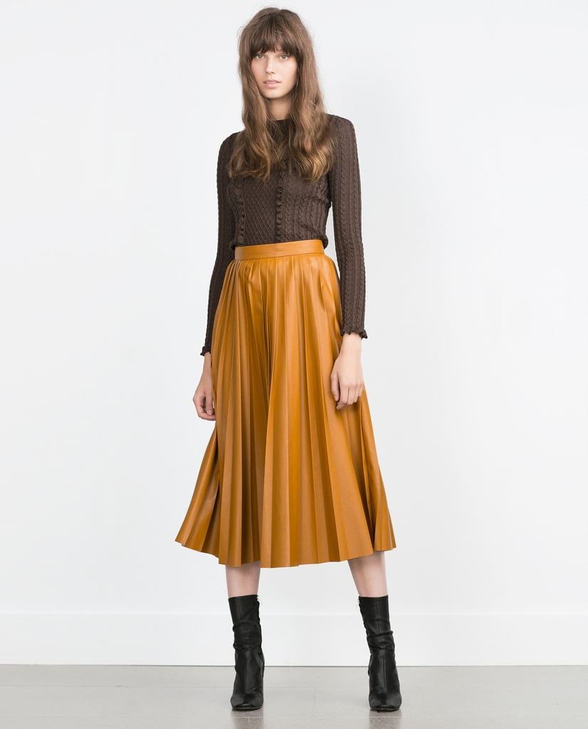 Zara Pleated Midi Skirt ($70)