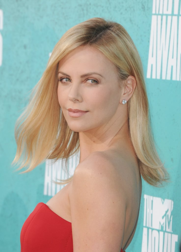 Charlize Theron struck a pose at the MTV Movie Awards.