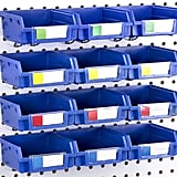 Pegboard Bins Hooks to Any Peg Board Organizer